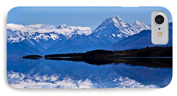 Mount Cook With Reflection Phone Case by Avalon Fine Art Photography