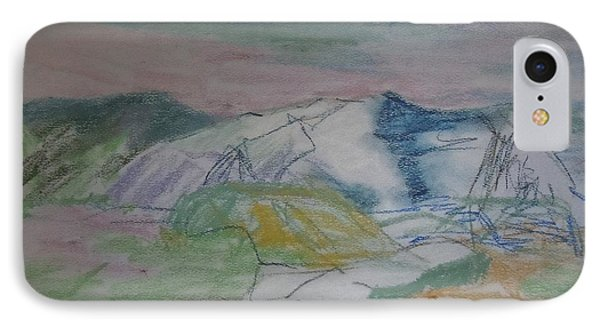 IPhone Case featuring the painting Mount Desert Back Side by Francine Frank