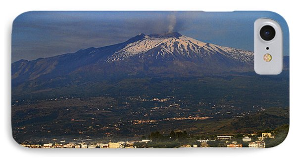 Mount Etna Phone Case by David Smith