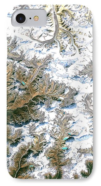 Mount Everest  Phone Case by Planet Observer and Photo Researchers