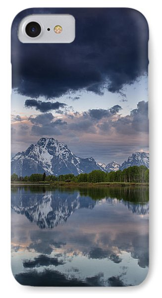 Mount Moran Under Black Cloud Phone Case by Greg Nyquist