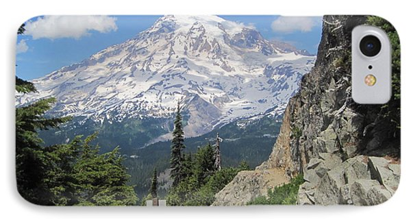 Mount Rainier From The Pinnacle Peak Trail IPhone Case