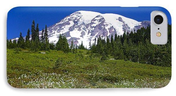 Mount Rainier In Summer Phone Case by Sean Griffin