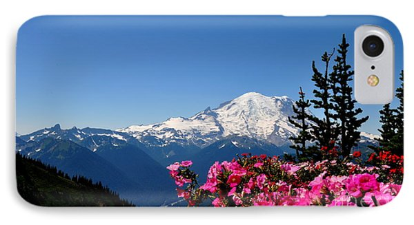 Mount Rainier Seen From Crystal Mountain Summit  2 IPhone Case by Tanya  Searcy