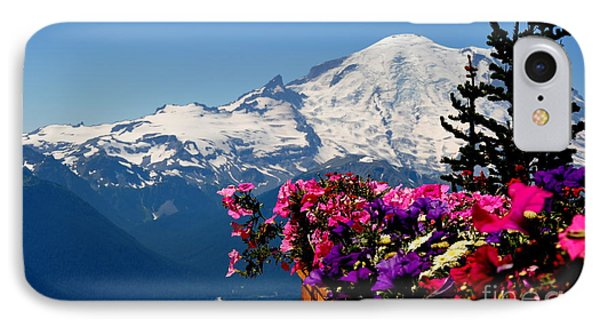 Mount Rainier Seen From Crystal Mountain Summit  3 IPhone Case by Tanya  Searcy