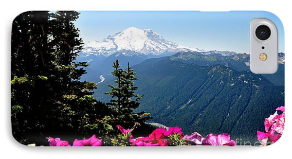 IPhone Case featuring the photograph Mount Rainier Seen From Crystal Mountain Summit  5 by Tanya  Searcy