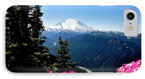 IPhone Case featuring the photograph Mount Rainier Seen From Crystal Mountain Summit  6 by Tanya  Searcy
