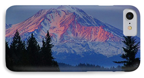 IPhone Case featuring the photograph Mount Shasta Winterlight by Mick Anderson