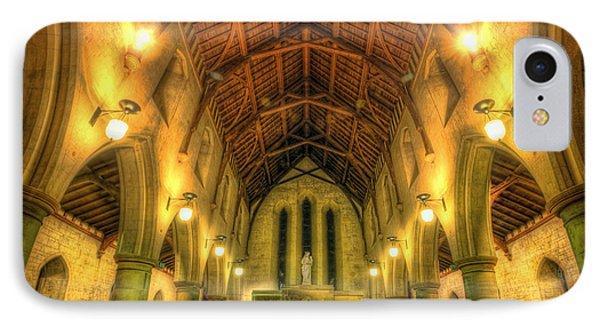 Mount St Bernard Abbey - The Nave Phone Case by Yhun Suarez