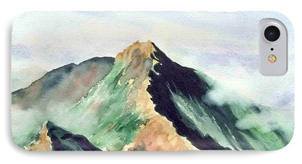 IPhone Case featuring the painting Mountain  1 by Yoshiko Mishina