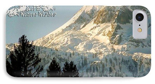 Mountain Christmas 2 Austria Europe Phone Case by Sabine Jacobs