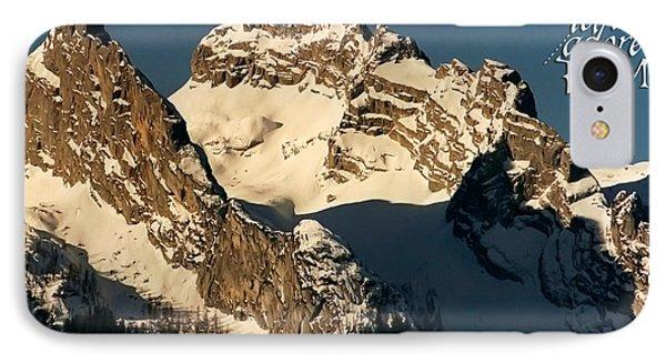 Mountain Christmas Austria Europe Phone Case by Sabine Jacobs