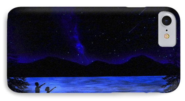 Mountain Lake Glow In The Dark Mural IPhone Case by Frank Wilson