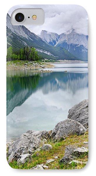 Mountain Lake In Jasper National Park Phone Case by Elena Elisseeva