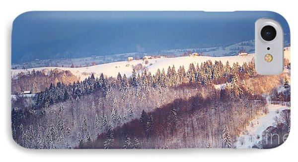 Mountain Landscape In Brasov County Phone Case by Gabriela Insuratelu