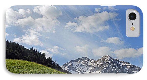 Mountain Landscape In The Alps Phone Case by Matthias Hauser