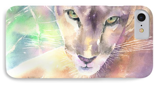 Mountain Lion Phone Case by Arline Wagner