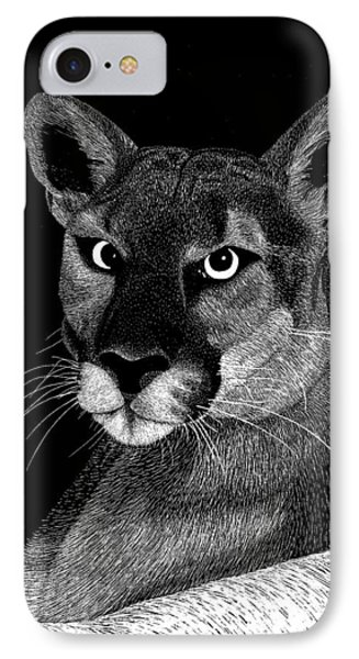 Mountain Lion IPhone Case by Kume Bryant