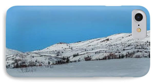 Mountain Range Along The Dempster Highway IPhone Case by Priska Wettstein