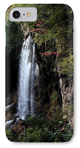 Mountain Waterfall IPhone Case by Karen Harrison