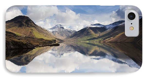 Mountains And Lake, Lake District IPhone Case by John Short