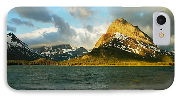 Mountains At Many Glacier Phone Case by Jeff Swan