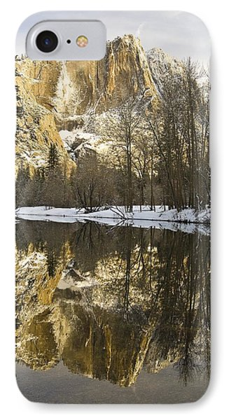 Mountains Reflecting In Merced River In Phone Case by Robert Brown