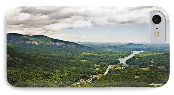Mountains With Lake In The Valley Phone Case by Susan Leggett