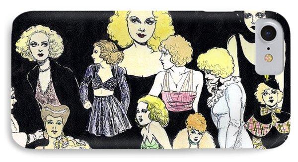 Movie Ladies Montage Phone Case by Mel Thompson