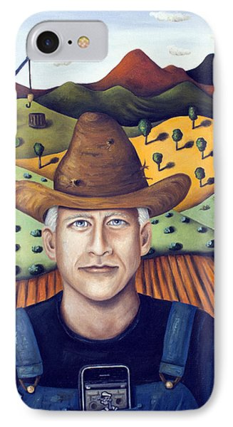 Mr Cooper's Spinach Farm Phone Case by Leah Saulnier The Painting Maniac