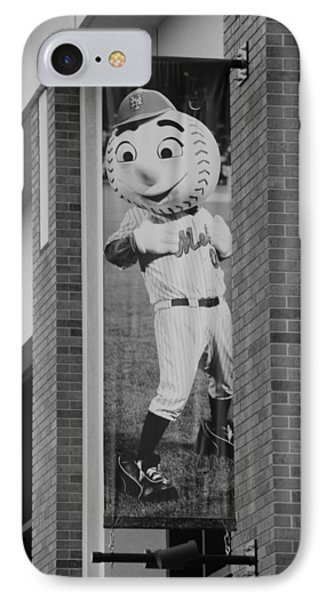Mr Met In Black And White Phone Case by Rob Hans