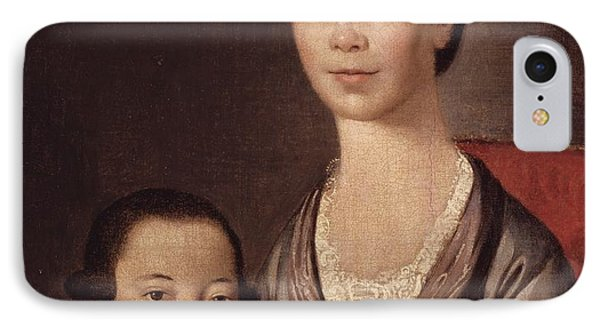 Mrs. Aaron Lopez And Her Son Joshua Phone Case by  Gilbert Stuart