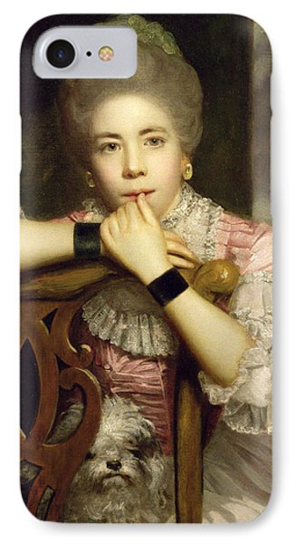 Mrs Abington As Miss Prue In Congreve's 'love For Love'  Phone Case by Sir Joshua Reynolds