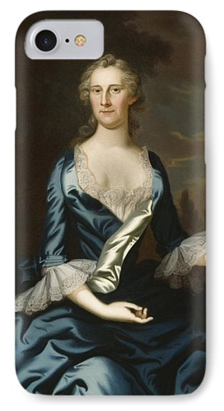 Mrs. Charles Carroll Of Annapolis IPhone Case by John Wollaston