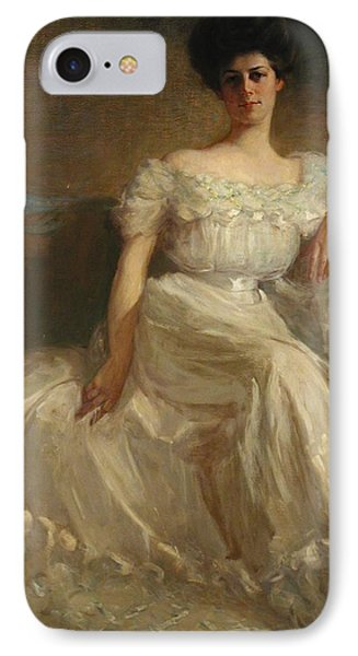 Mrs. Leslie Thayer Green Phone Case by John Willard Clawson