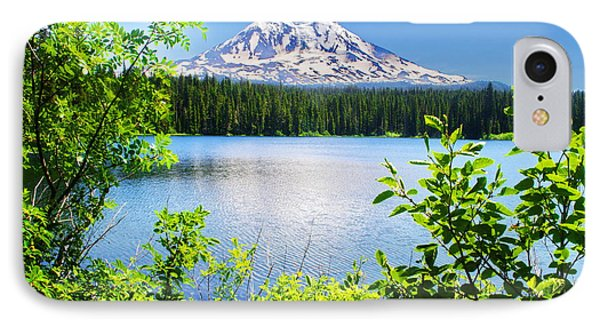 Mt Adams And Takhlakh Lake IPhone Case by Ansel Price