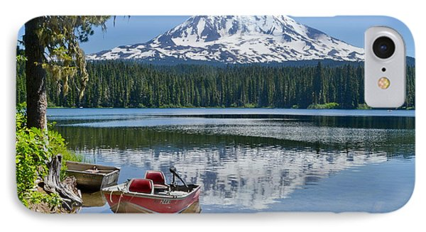 Mt Adams At The Lake IPhone Case by Ansel Price