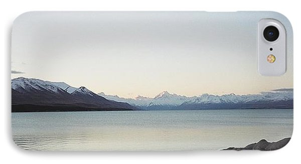 Mt Cook From Lake Pukaki IPhone Case by Peter Mooyman