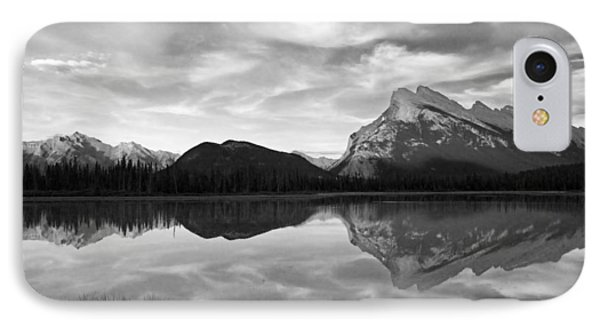 Mt. Rundel Reflection Black And White IPhone Case by Andrew Serff