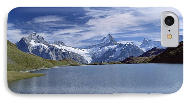 Mt Wetterhorn And Mt Schreckhorn, Alps IPhone Case by Konrad Wothe