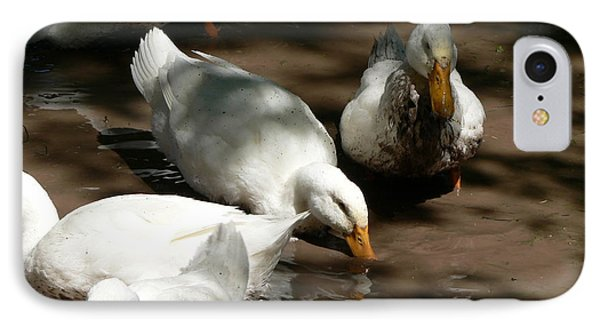 IPhone Case featuring the photograph Muddy Ducks by Laurel Best