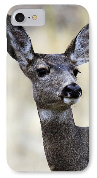 IPhone Case featuring the photograph Mule Deer Doe by Steve McKinzie