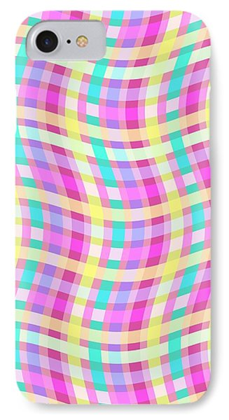 Multi Check IPhone Case by Louisa Knight