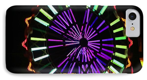 IPhone Case featuring the photograph Multi Colored Ferris Wheel by Kym Backland