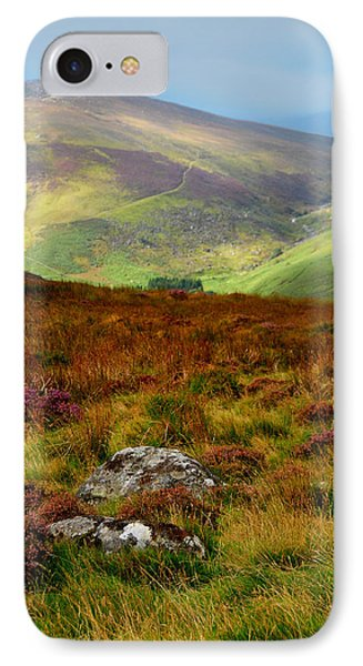 Multicolored Hills Of Wicklow. Ireland Phone Case by Jenny Rainbow