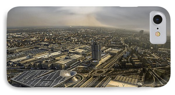 Munich From Above - Vintage Part Phone Case by Hannes Cmarits