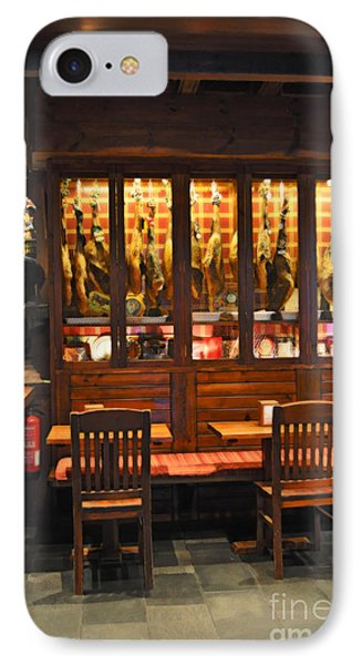 Museo De Jamon Seville IPhone Case by Mary Machare