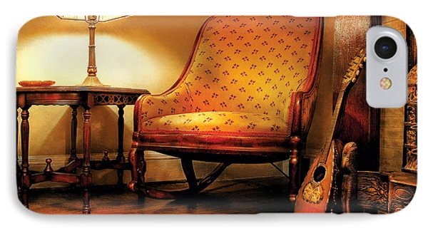 Music - String - The Chair And The Lute Phone Case by Mike Savad