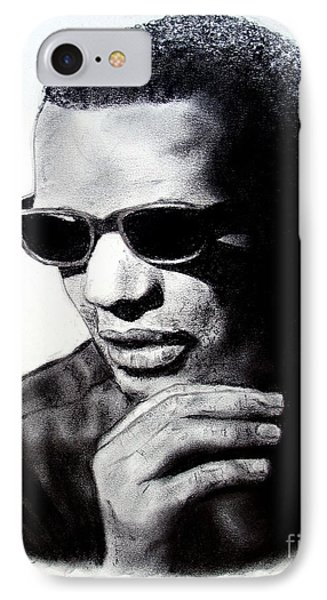 IPhone Case featuring the painting Music Legend Ray Charles by Jim Fitzpatrick