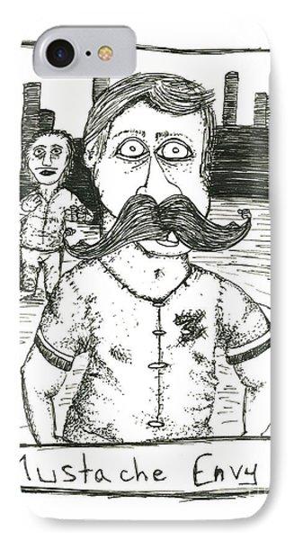 Mustache Envy Phone Case by Michael Mooney